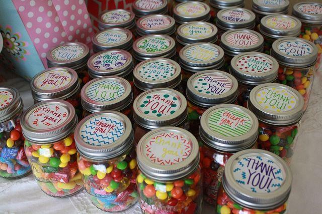 Pin By Hillary Life On Sugar Hill On L E T S P A R T Y Mason Jar Candy Mason Jar Baby Shower Mason Jars