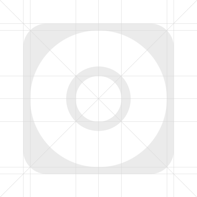 Pixelmator (.pxm) iOS 7 Icon Template File with new iOS 7 Icon Grid ...