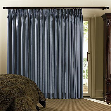 Beau Chris Madden® Mystique Pinch Pleat Patio Door Panel   Jcpenney 5. Hang Your  Curtain Rods About 2 Inches Or So From The Ceiling Or Bottom Of The Crown.