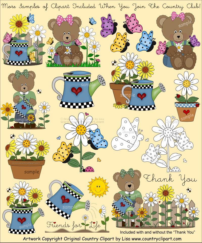 flowers garden clip art club 1 2 inch dollhouse printables rh pinterest com country clipart country clipper wheelbarrow