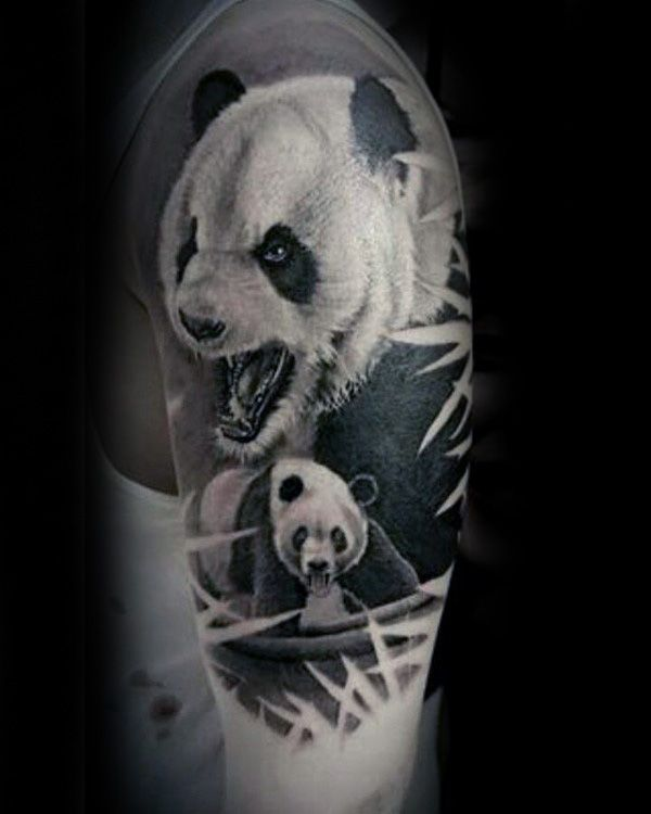 41843eca9 100 Panda Bear Tattoo Designs For Men - Manly Ink Ideas | Tattoos ...