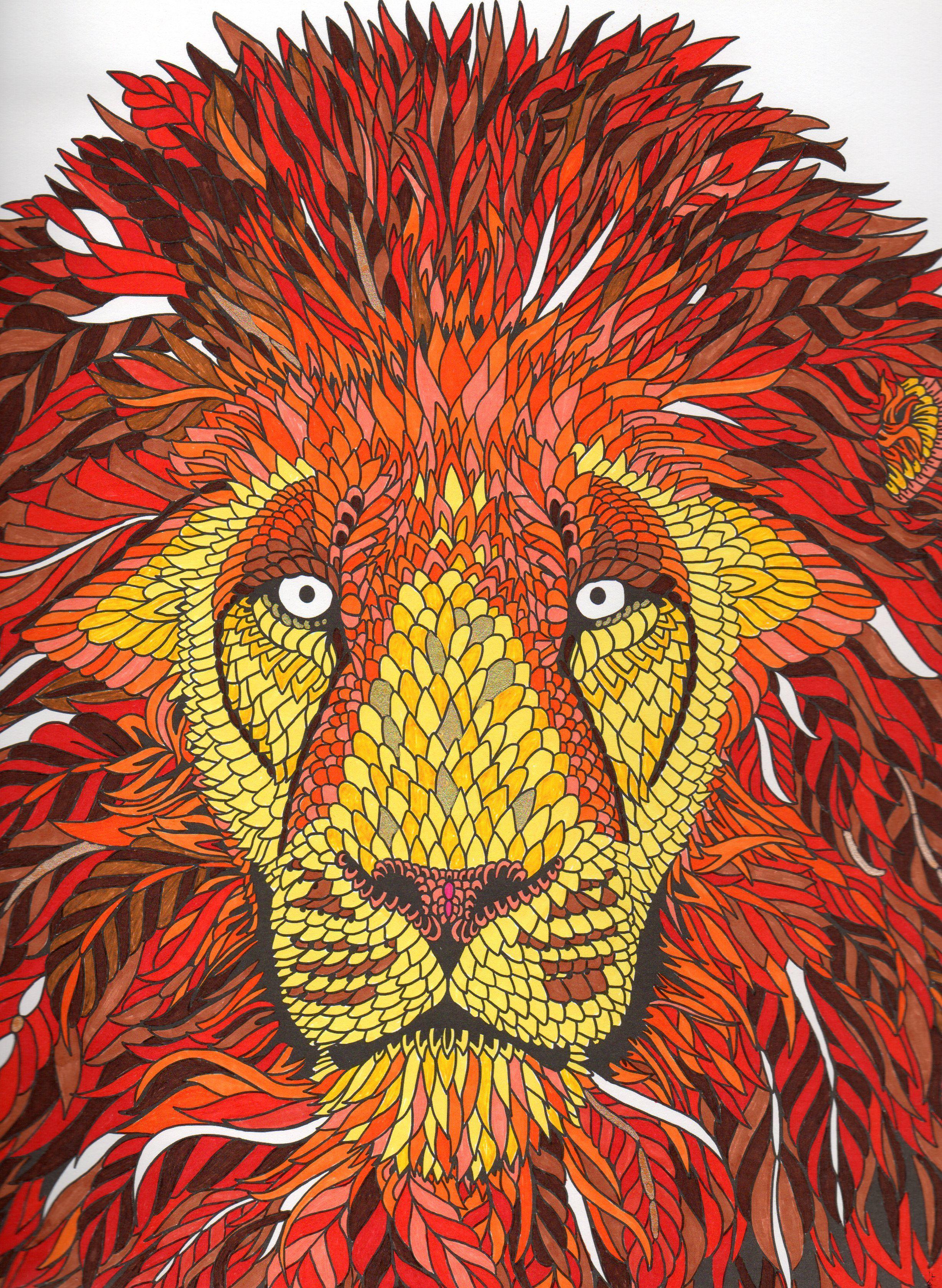 Mon lion - la ménagerie the menagerie colouring book | menagerie ...