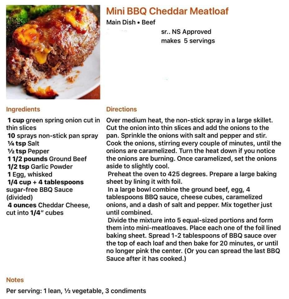 Mini Bbq Cheddar Meatloaf Lean And Green Lean And Green Meals Lean Eating Beef Meatloaf