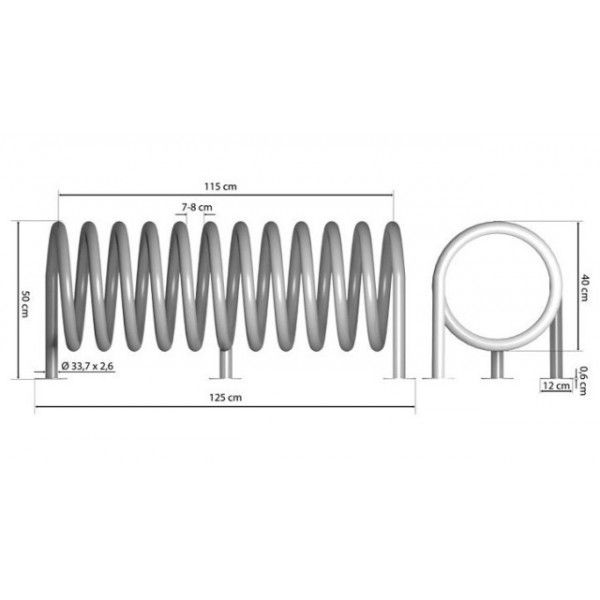 Aparcabicis 5 plazas acero inox espiral-p. 09vln3116 | Tiendas de ...