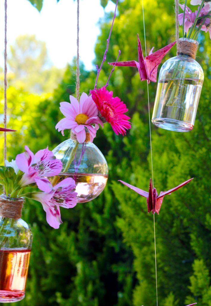 DIY tuto suspension printanière fleurie : une déco romantique pour ...