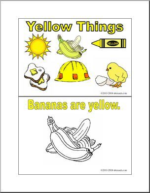 Coloring Pages Yellow Things Booklet Ten Pages Of Things That Are Yellow From Chicks To Scho Early Childhood Lesson Plan Color Flashcards Abc Flashcards