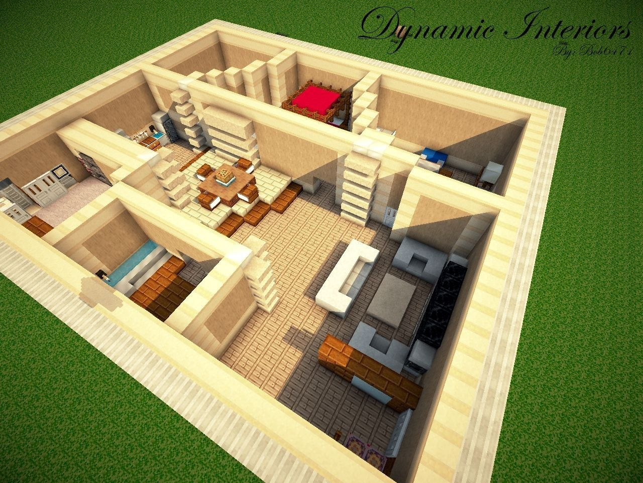 Good Layout Plan For A Rectangular House Minecraft Modern Minecraft House Plans Minecraft House Designs