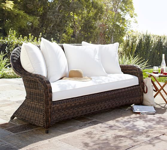 11 Best Pottery Barn Outdoor Sofas On Sale With Images Wicker