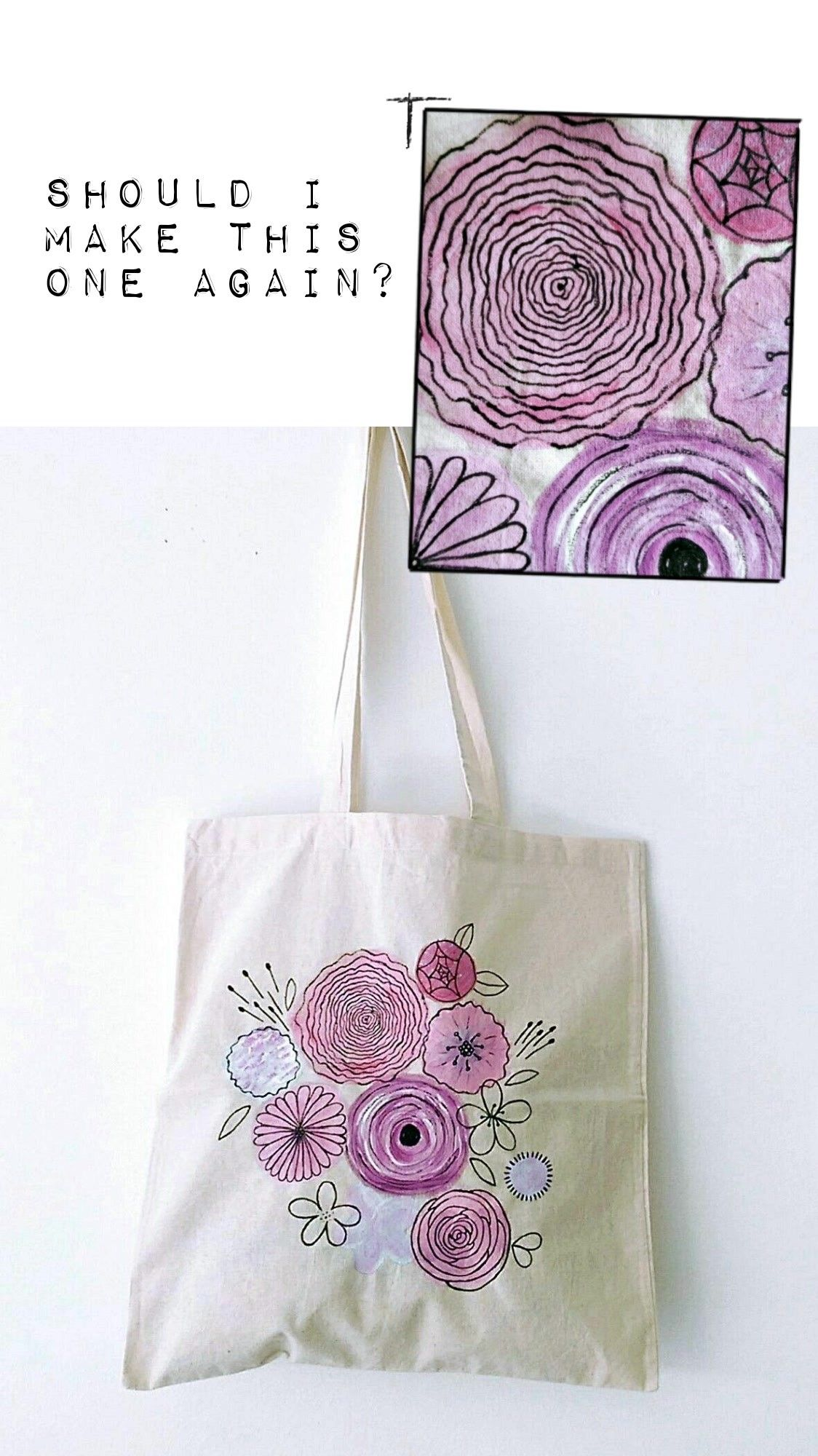 personalized tote bags - Handpainted bags, Printed bags, Personalized tote bags