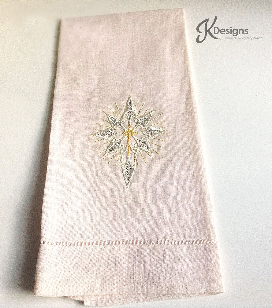 Cream Star Hand Towel,custom embroidery,hand towel,embroidery hand towel,cream towel,star embroidery,white star,embroidery,silver star by JollieSweets on Etsy