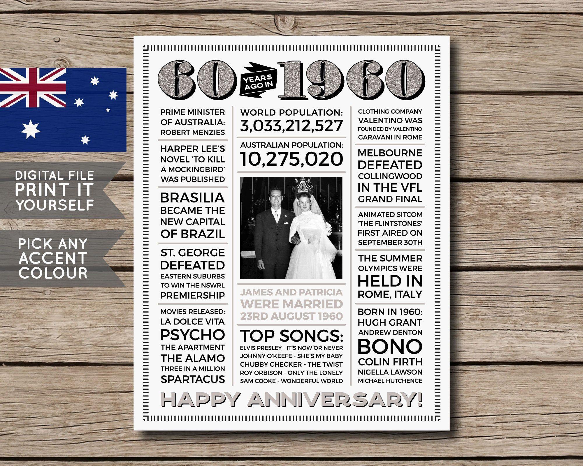Australian 60th anniversary poster 60th anniversary