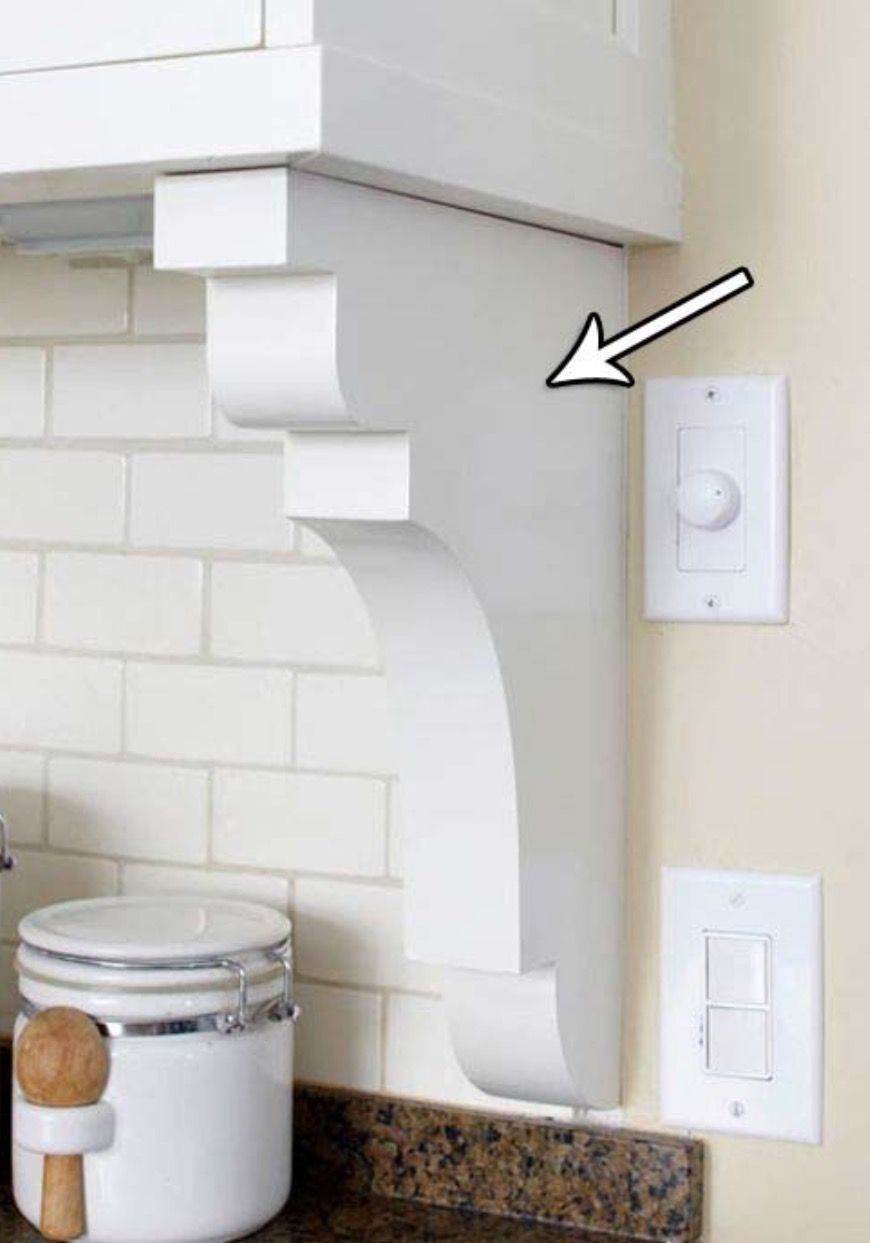 Image result for corbels under kitchen cabinets | Easy home ...
