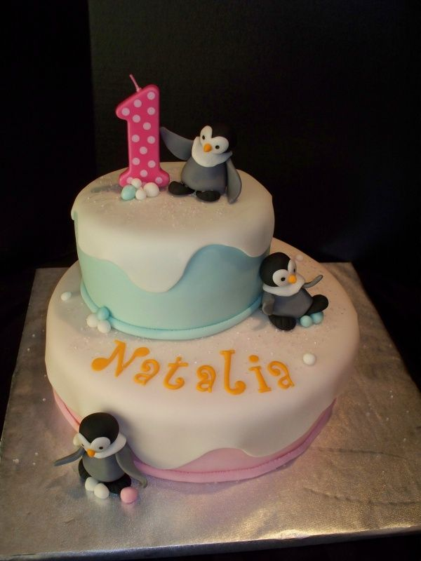 Super Image Detail For Happy Feet Theme Birthday Cake Cake Theater Funny Birthday Cards Online Alyptdamsfinfo