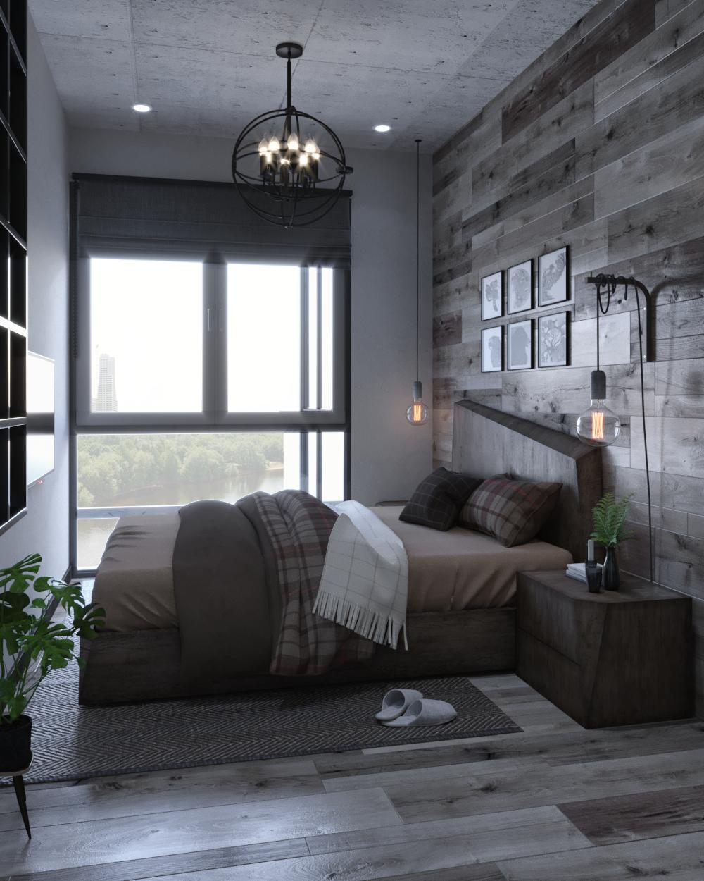 Small Apartment Industrial Interior Design Apartment Design