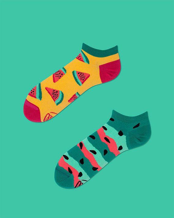 Watermelon Splash Low Socks women socks colorful by ManyMornings