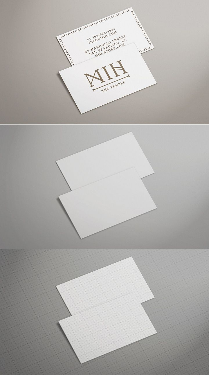 Free - Business Card Mock Up - Pack 1 - Thick edge colored | free ...