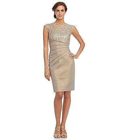 KM Collections IllusionNeckline Dress #Dillards VERY pretty gold ...
