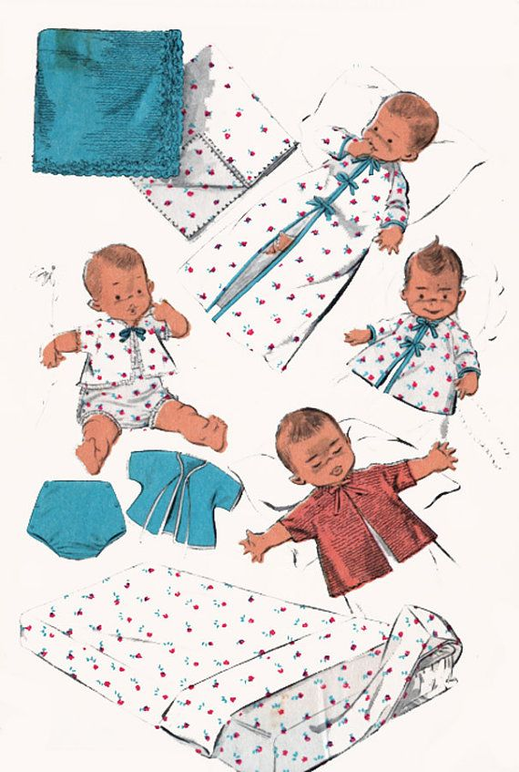 Easy Instructions For Baby Infant Layette Patterns