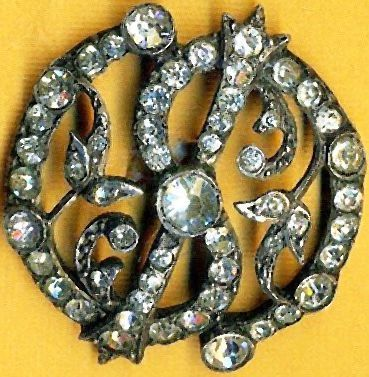 Antique Georgian/Victorian Grain Set Paste Button in Silver Metal.