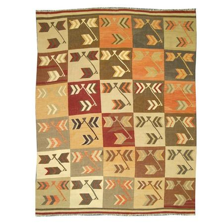 """I pinned this Jawid Kilim Veggie 7'10"""" x 10'2"""" Rug from the Loominary event at Joss and Main!"""