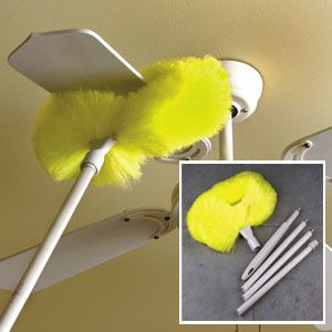 Ceiling fan duster 1798 product code hd23930 clean ceiling clean freak ceiling fan aloadofball Gallery