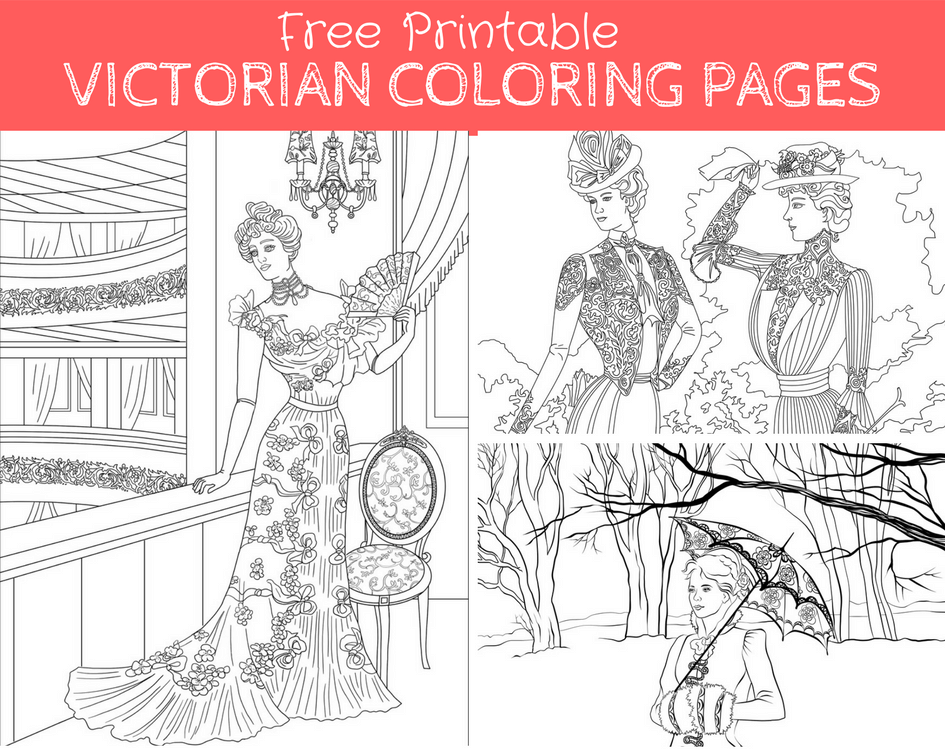 Creative History Lovers Are Choosing Our FREE Victorian Coloring Pages