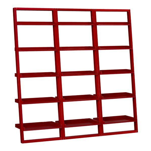 Sloane Crimson Leaning Shelves Home Amp Garden Bookcase