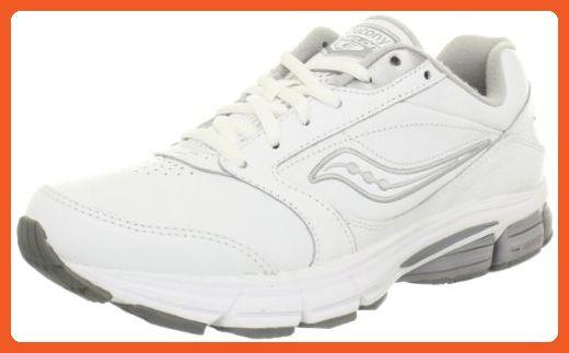 c1a5cbcb0a Saucony Women's Echelon LE2 Walking Shoe,White/Silver,8 W US ...