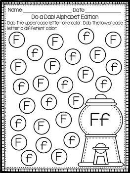 Alphabet Letter Identification - Bingo Dauber Activities ...