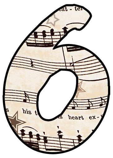 ArtbyJean - Paper Crafts: Alphabet Set - Vintage Sheet Music Clipart Prints for cards, decoupage, scrapbooking. #vintagesheetmusic