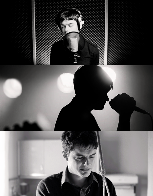"These inspiring stills from Control (2007) are what inspired me to create another board called ""Cinematography"". Lovely actor Sam Riley portrays the singer from Joy Division, Ian Curtis, and the life he had before committing suicide at the age of 23. RIP."