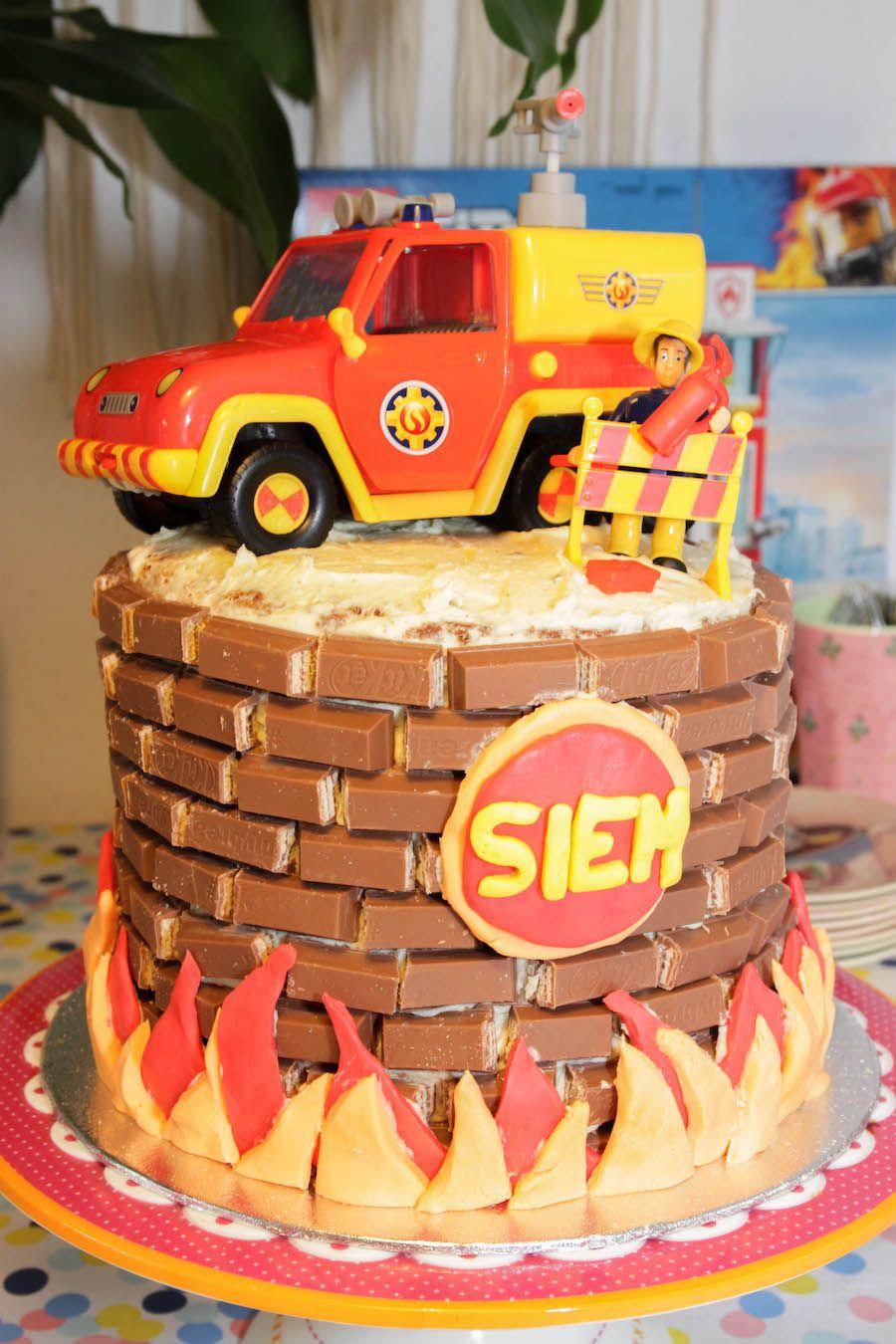 Brandweer Sam taart voor Siem - Mama Maai
