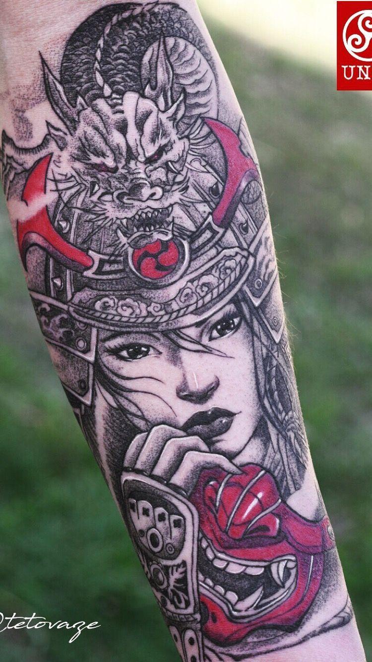 d78f59eb1 Samurai girl tattoo for men @tetovaze #Tattoosformen | Tattoos for ...