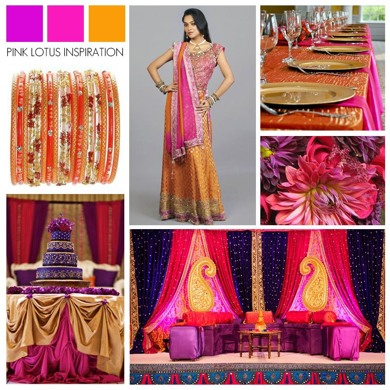 COLOR BOARD: PURPLE, PINK & ORANGE