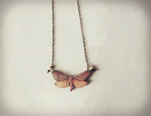 FIORELLA Farfalle collection. necklace hand cut and by Pettirossi