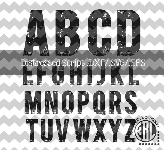 Bold Alpha-Distressed design pack INSTANT by KitaleighBoutique