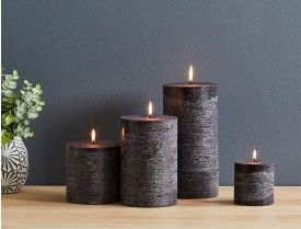 Taupe Rustic Candles Candles Black Candles