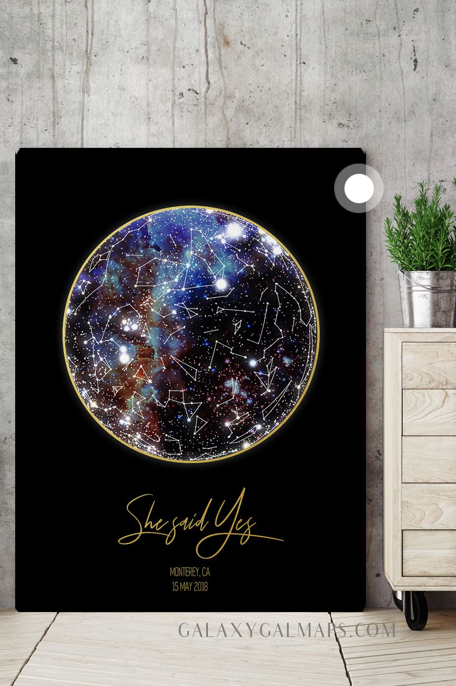 Custom Star Map Star Chart Wall Art Police Family Christmas Gift Blessed Are The Peacemakers W Constellation Art Baptism Gifts For Girls Guest Book Canvas