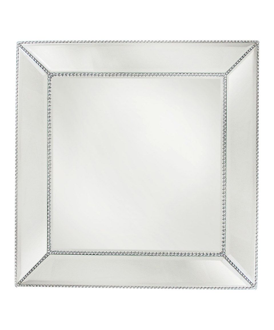 Loving this Square Beaded Mirror Charger Plate on #zulily! #zulilyfinds