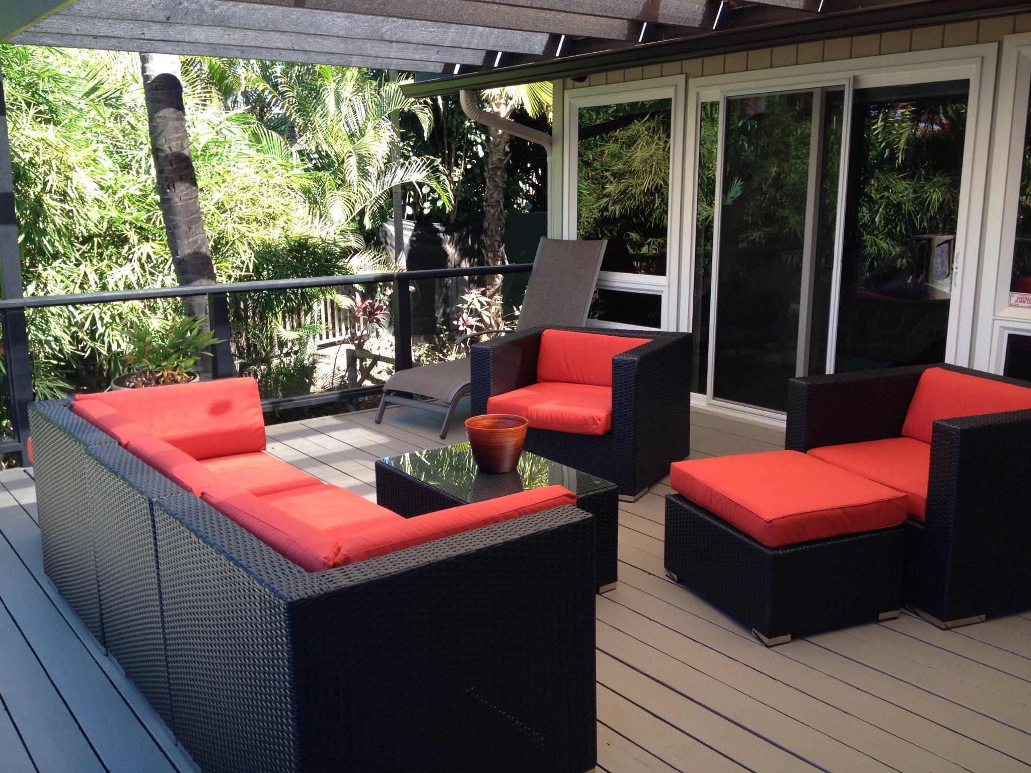 Backyard patio furniture - Ohana Wicker Furniture Outdoor Patio Furniture Deep Seating Set Ohana Depot