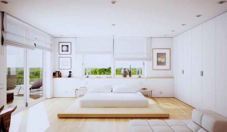 chambre claire au design minimaliste et ambiance zen lit bas
