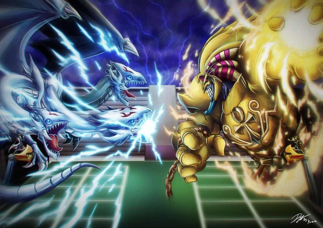 Blue Eyes White Dragon Vs Exodia The Forbidden One Yu Gi Oh
