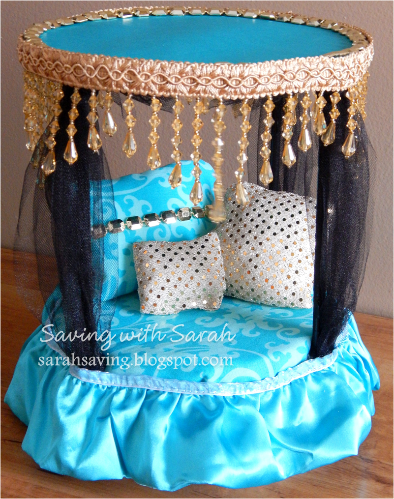 DIY Doll Furniture Canopy Bed #MonsterHigh for Monster High Cleo De Nile & How to Make A Doll Jump Rope | Diy doll Monster high and Canopy