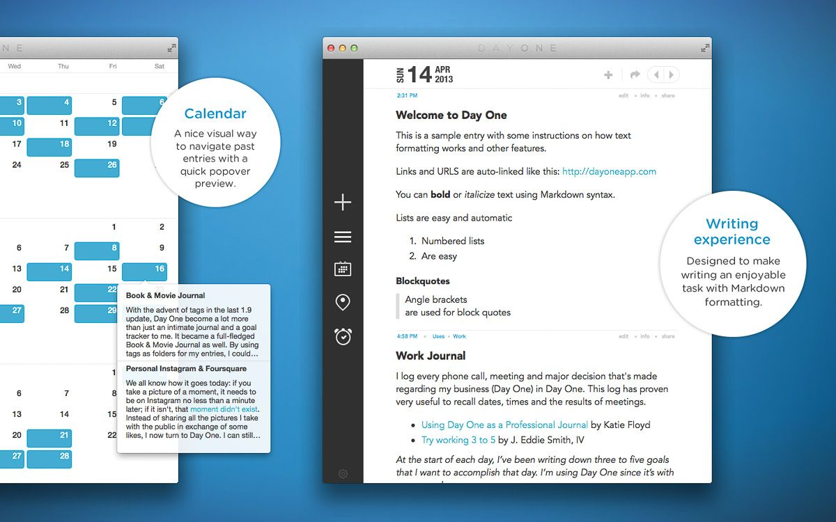 Day One A simple and elegant journal for iPhone, iPad
