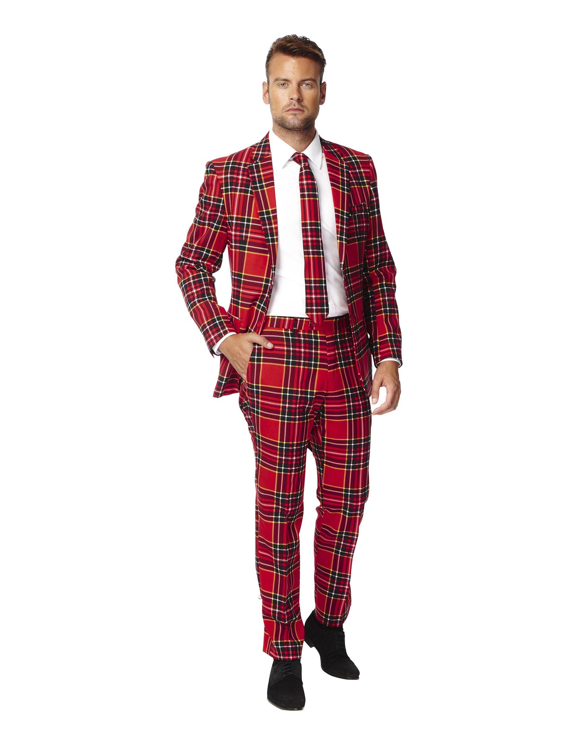 c4267c053 Traje tartán escocés hombre Opposuits™  Este traje para hombre es de la  marca Opposuits™.Incluye chaqueta