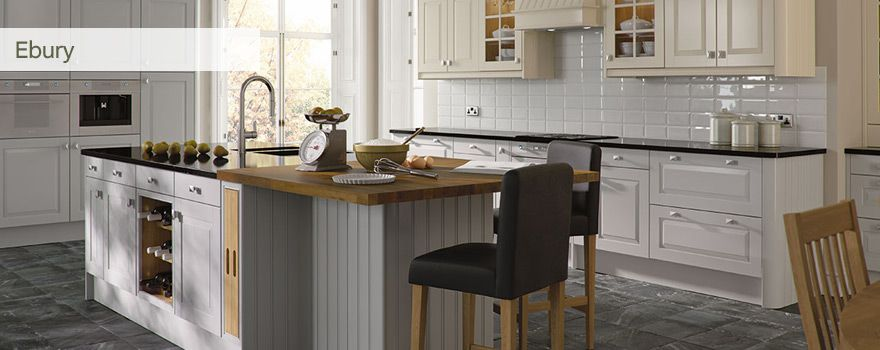 ebury kitchen - homebase - french grey | kitchen | pinterest