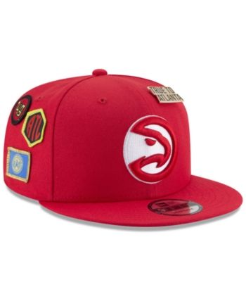 outlet store 3b6f2 48ccf New Era Boys  Atlanta Hawks On-Court Collection 9FIFTY Snapback Cap - Red  Adjustable