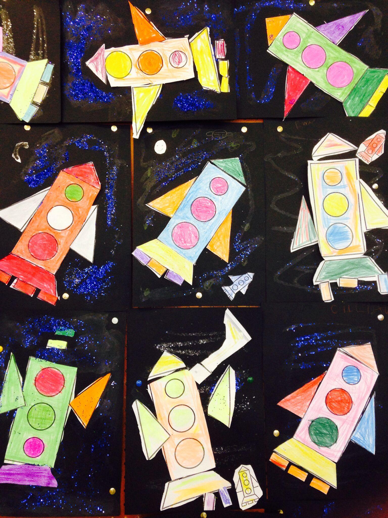Shape And Space In Art : D shape rockets st class pinterest math school