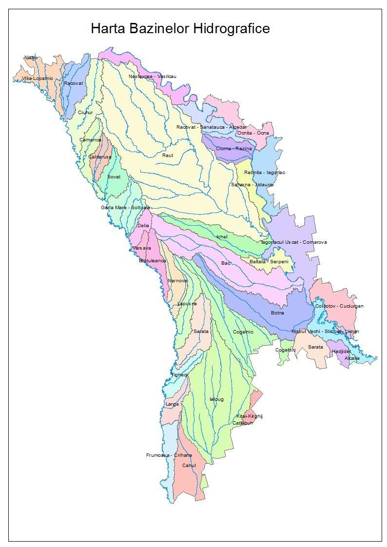 Harta Bazinelor Hidrografice Bazine Hidrografice Agenţia