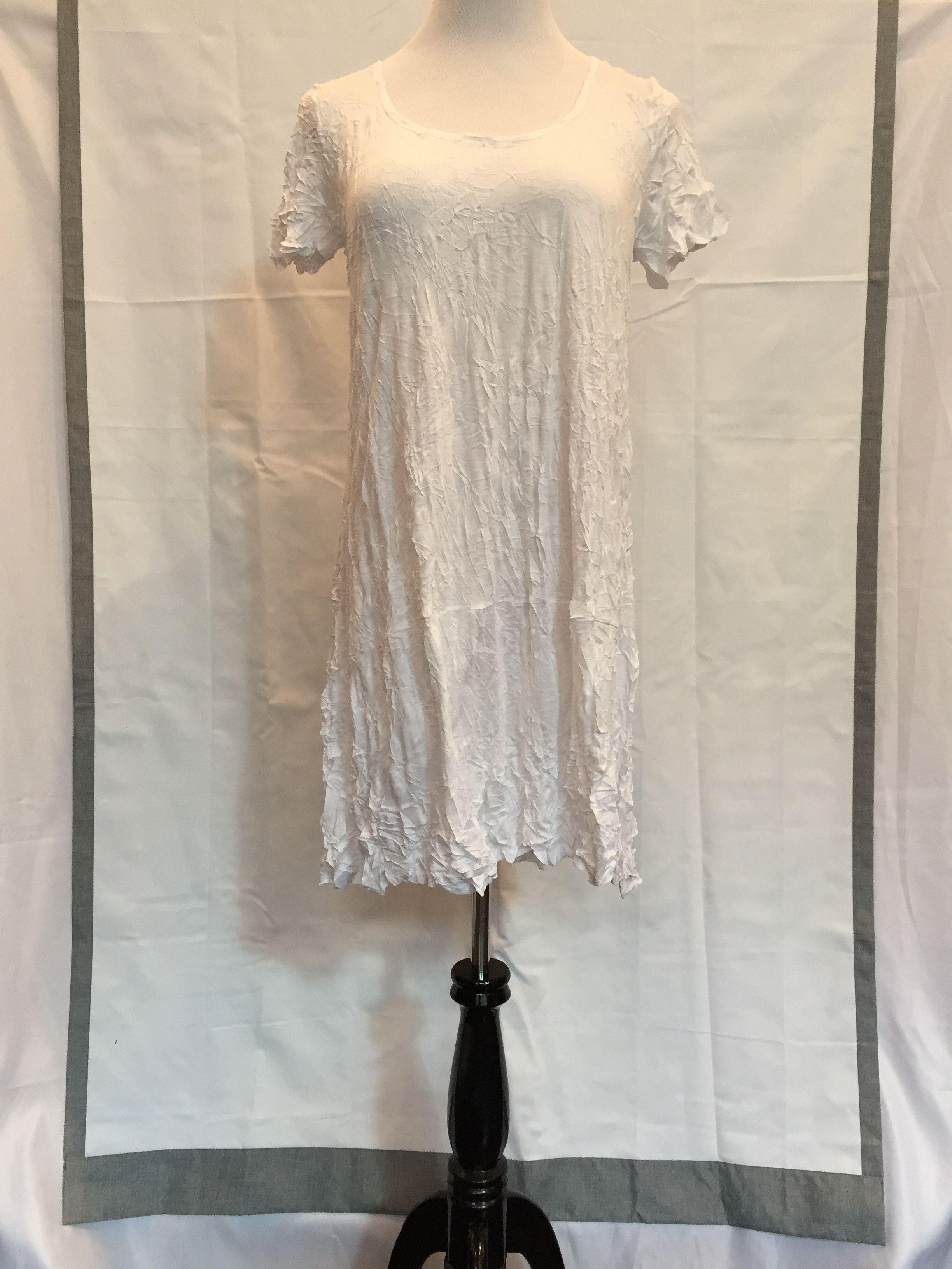 Lauren Vidal Crinkle White Tunic $149